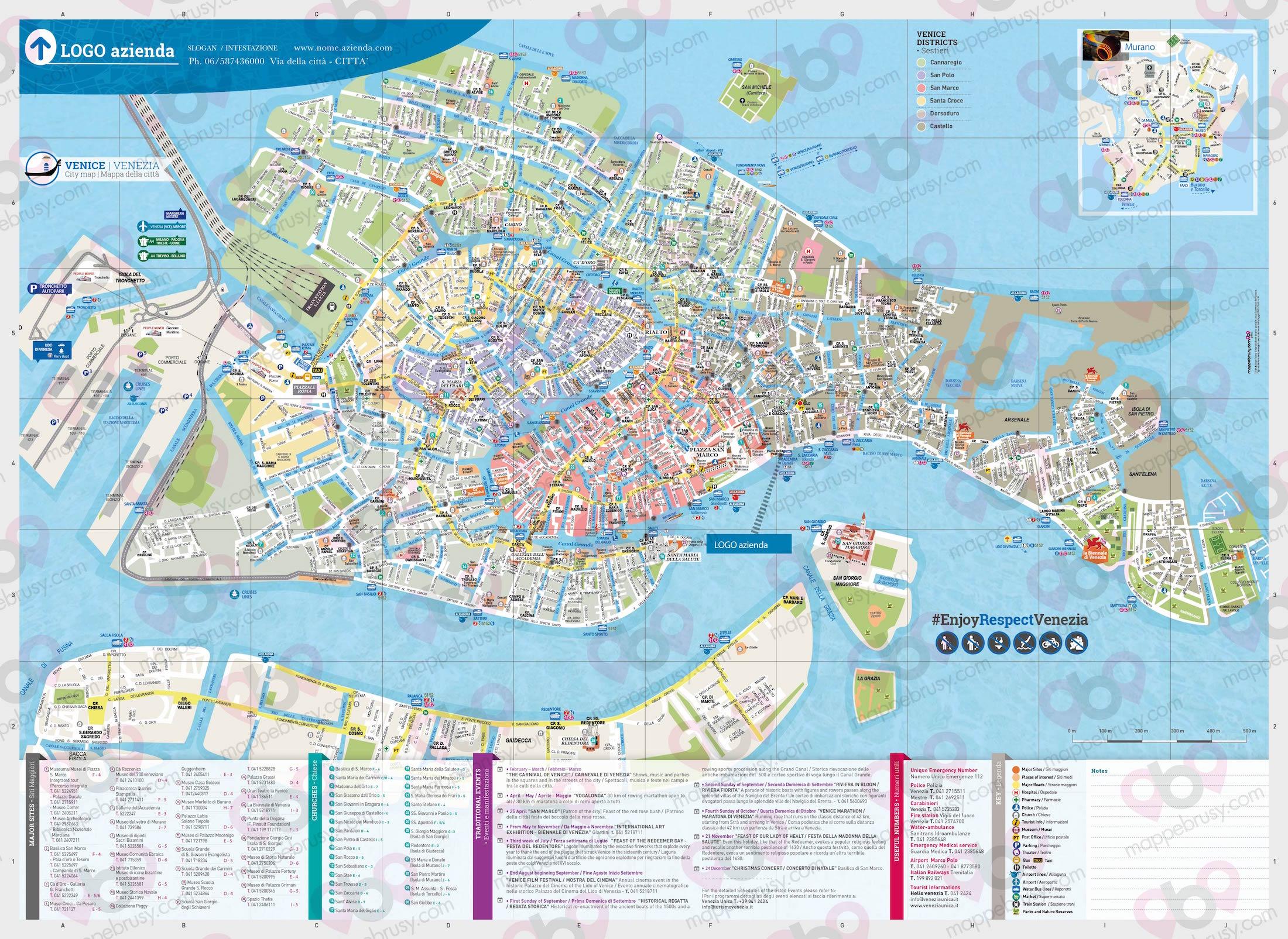 Cartina Venezia Centro Storico.Venezia Mappe Brusy