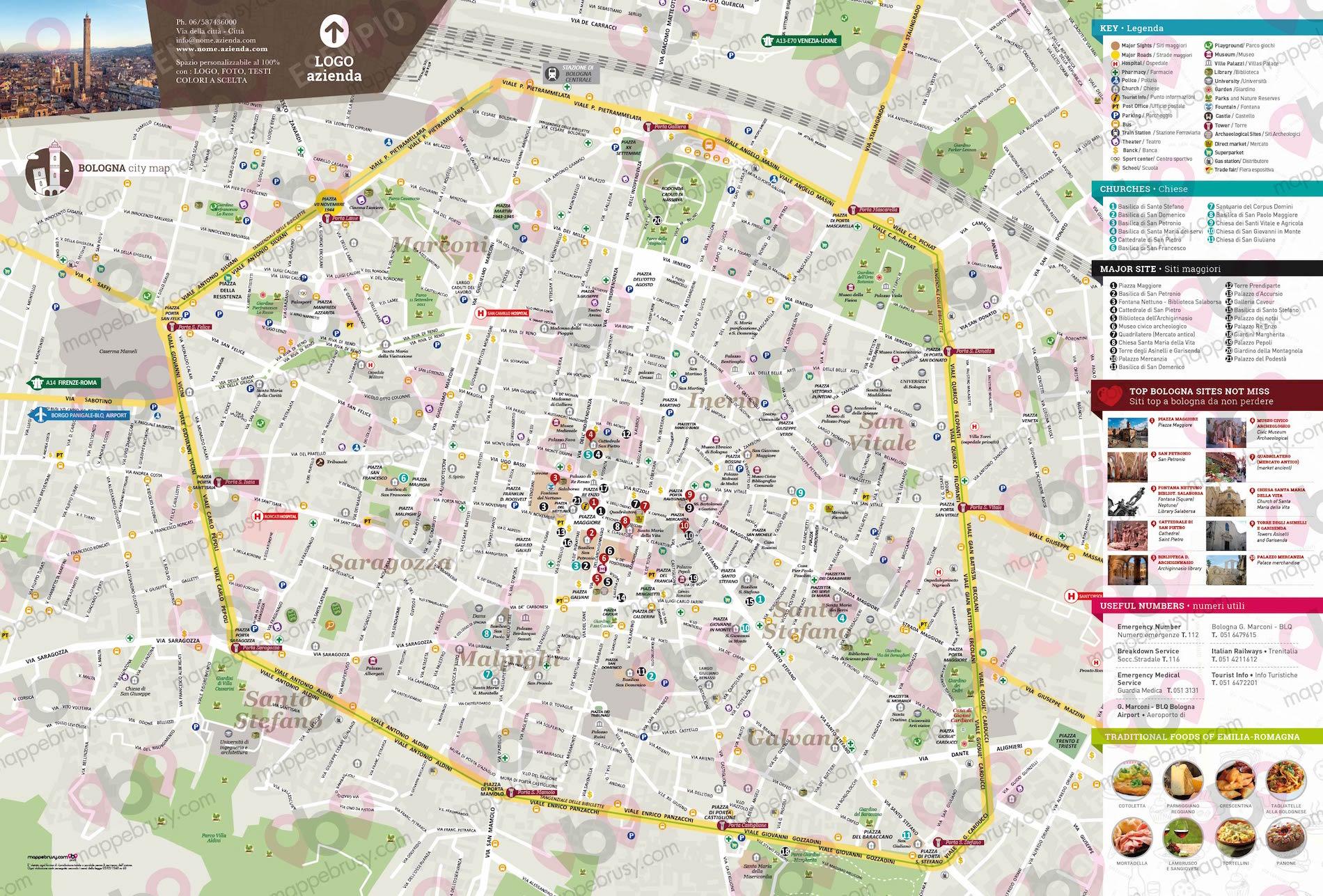 Bologna Cartina Geografica.Bologna Mappe Brusy