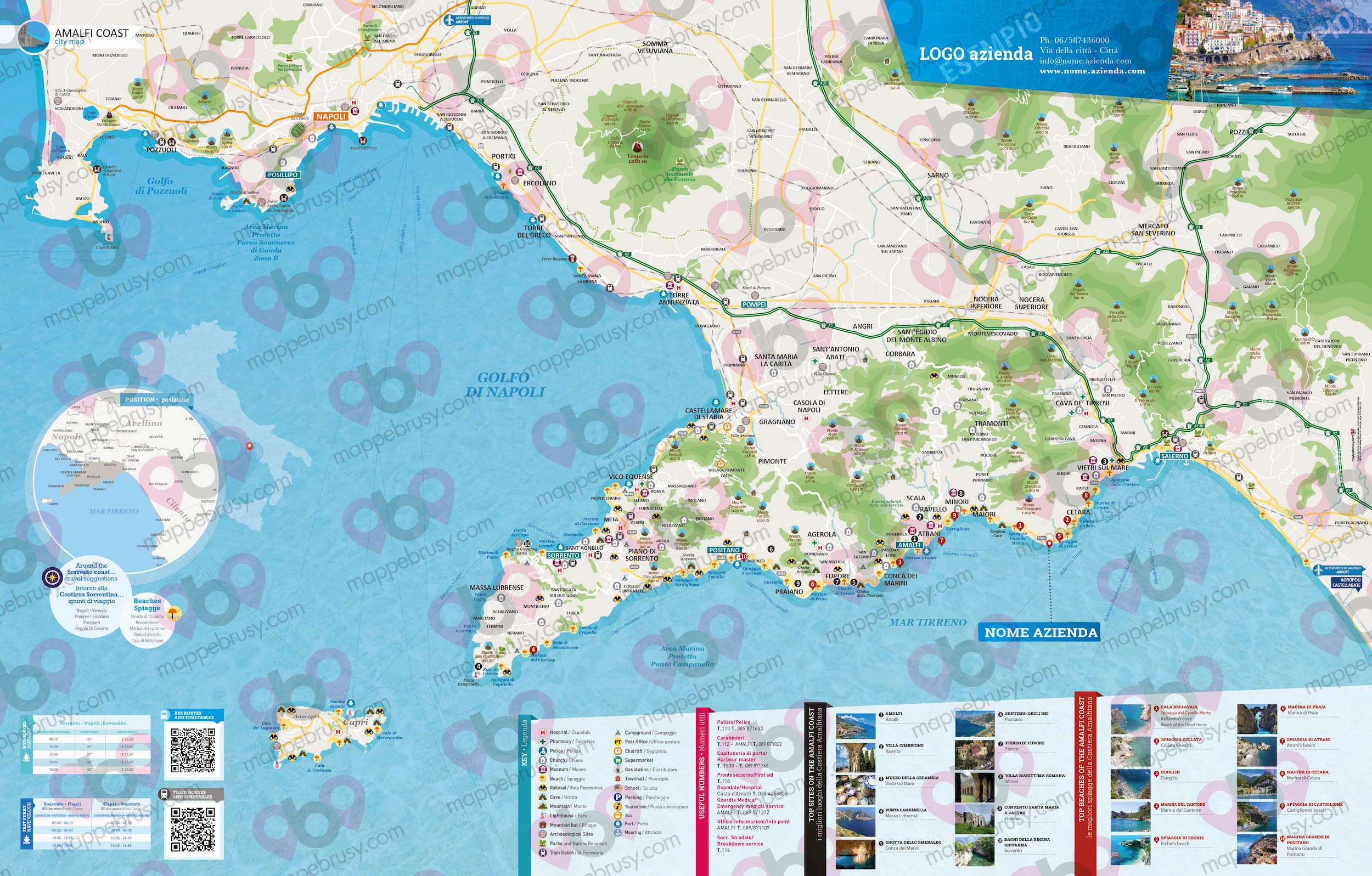 Tour Costiera Amalfitana Cartina.Costiera Amalfitana Mappe Brusy