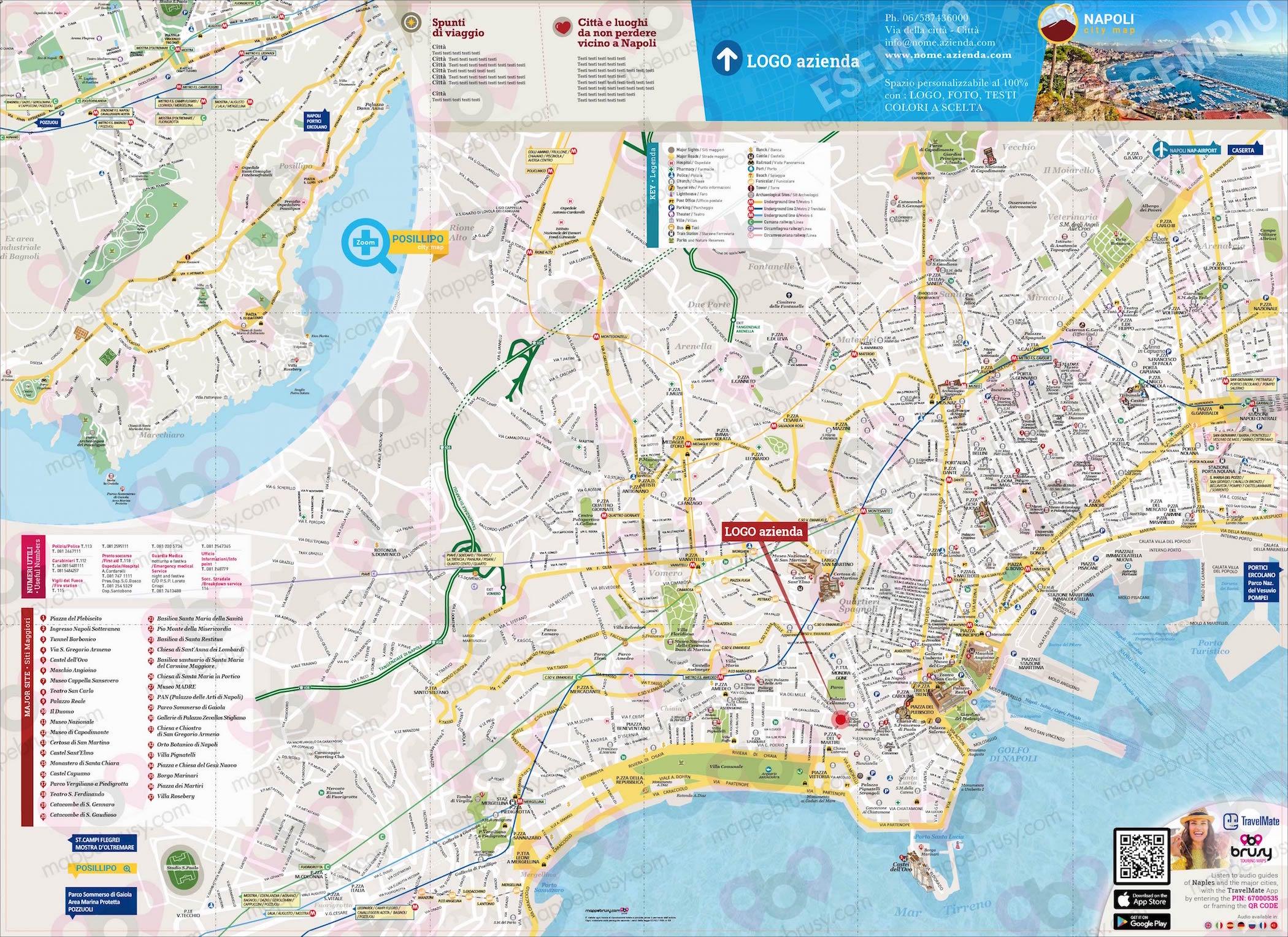 Cartina Napoli Da Stampare.Napoli Mappe Brusy