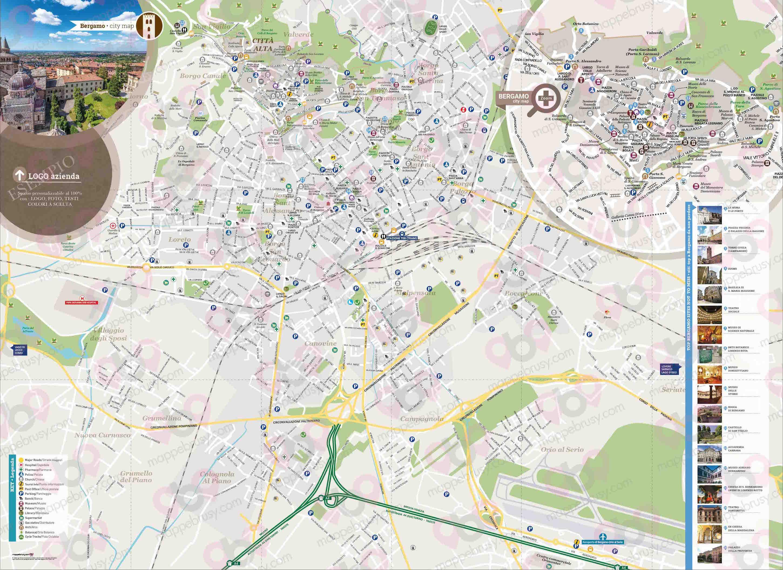 Cartina Di Firenze Centro Da Stampare.Bergamo Mappe Brusy