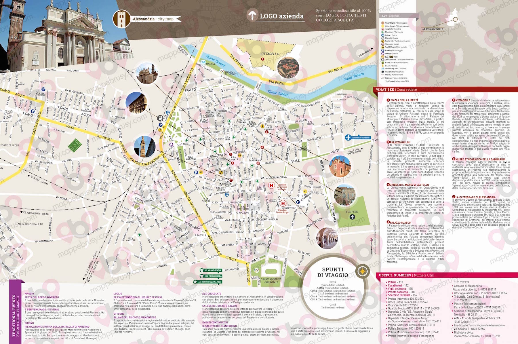 Cartina Di Firenze Centro Da Stampare.Alessandria Mappe Brusy