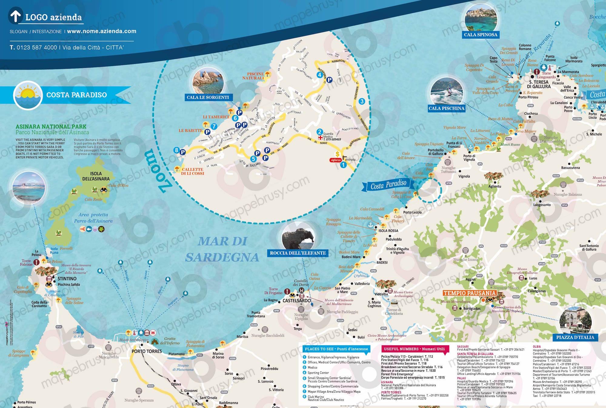 Costa Paradiso Sardegna Cartina Geografica.Costa Paradiso Ot Mappe Brusy