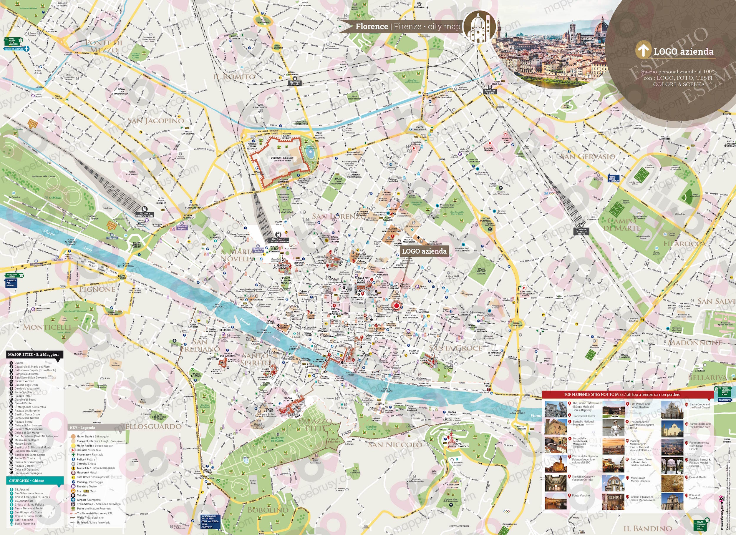 Cartina Firenze Da Stampare.Firenze Mappe Brusy