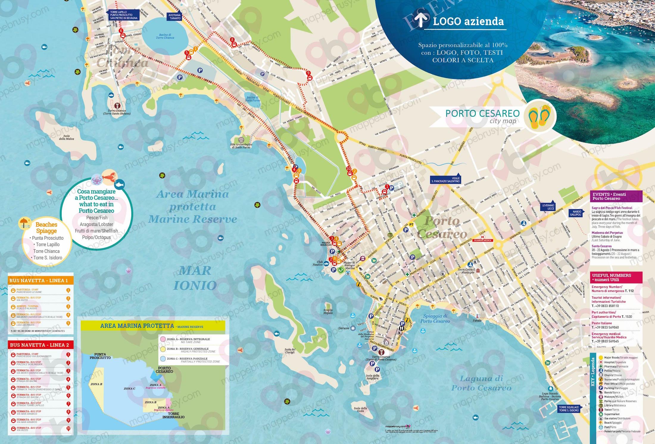 Porto Cesareo Puglia Cartina.Porto Cesareo Le Mappe Brusy