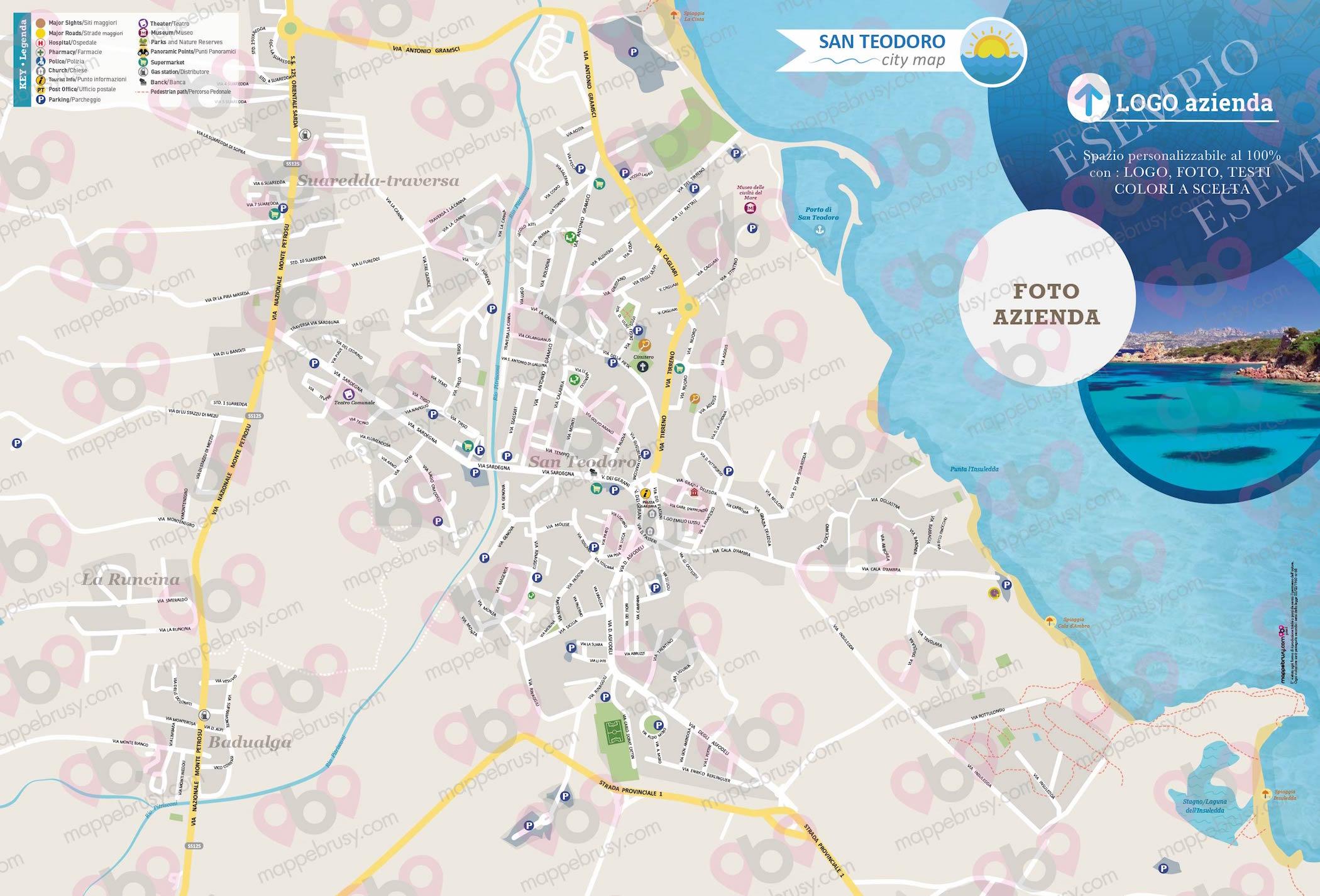 Cartina Di San Teodoro Sardegna.San Teodoro Ot Mappe Brusy