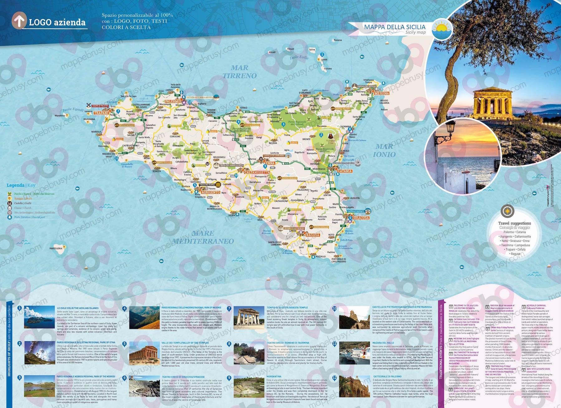 Immagini Cartina Della Sicilia.Sicilia Mappe Brusy