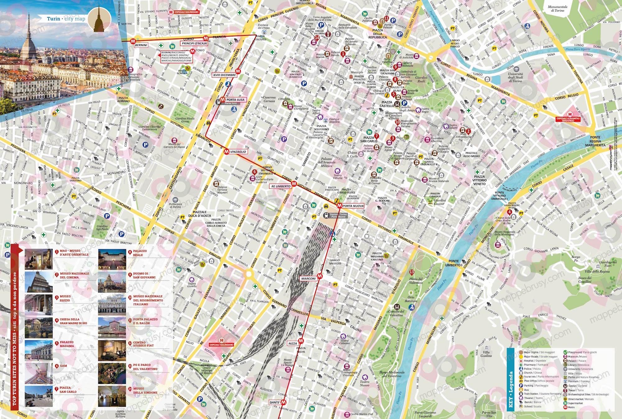 Cartina Piemonte Torino.Torino Mappe Brusy