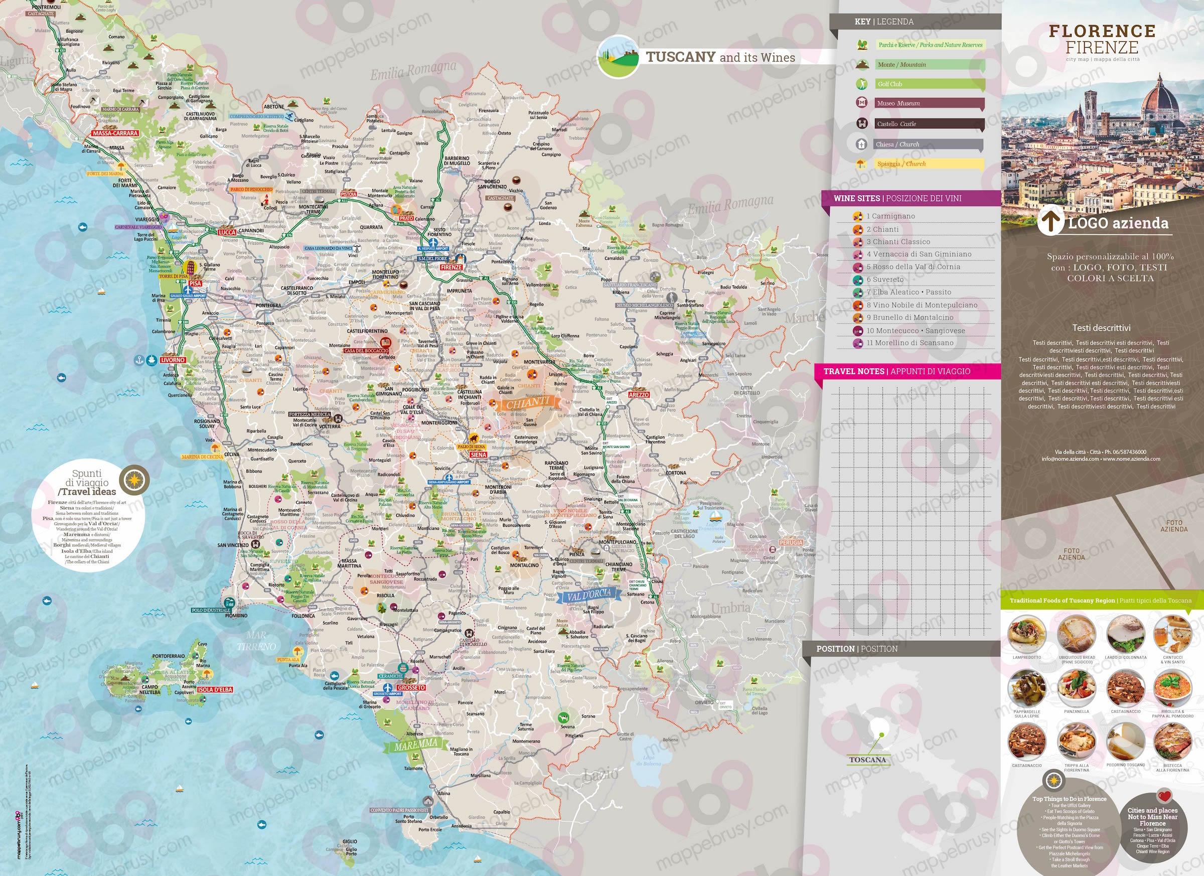 Cartina Stradale Toscana Da Stampare.Toscana Mappe Brusy