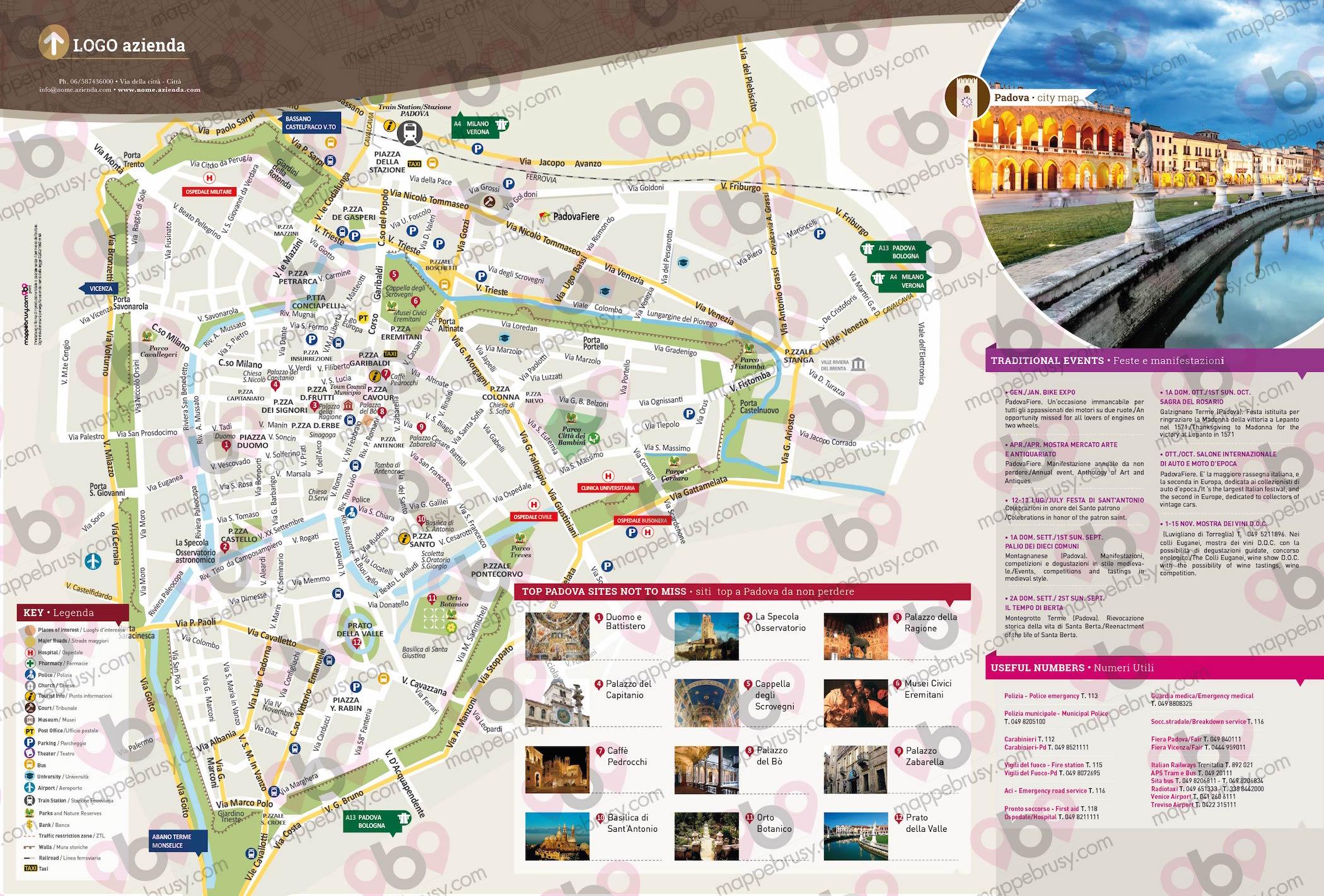 Cartina Di Venezia Con Vie.Padova Mappe Brusy