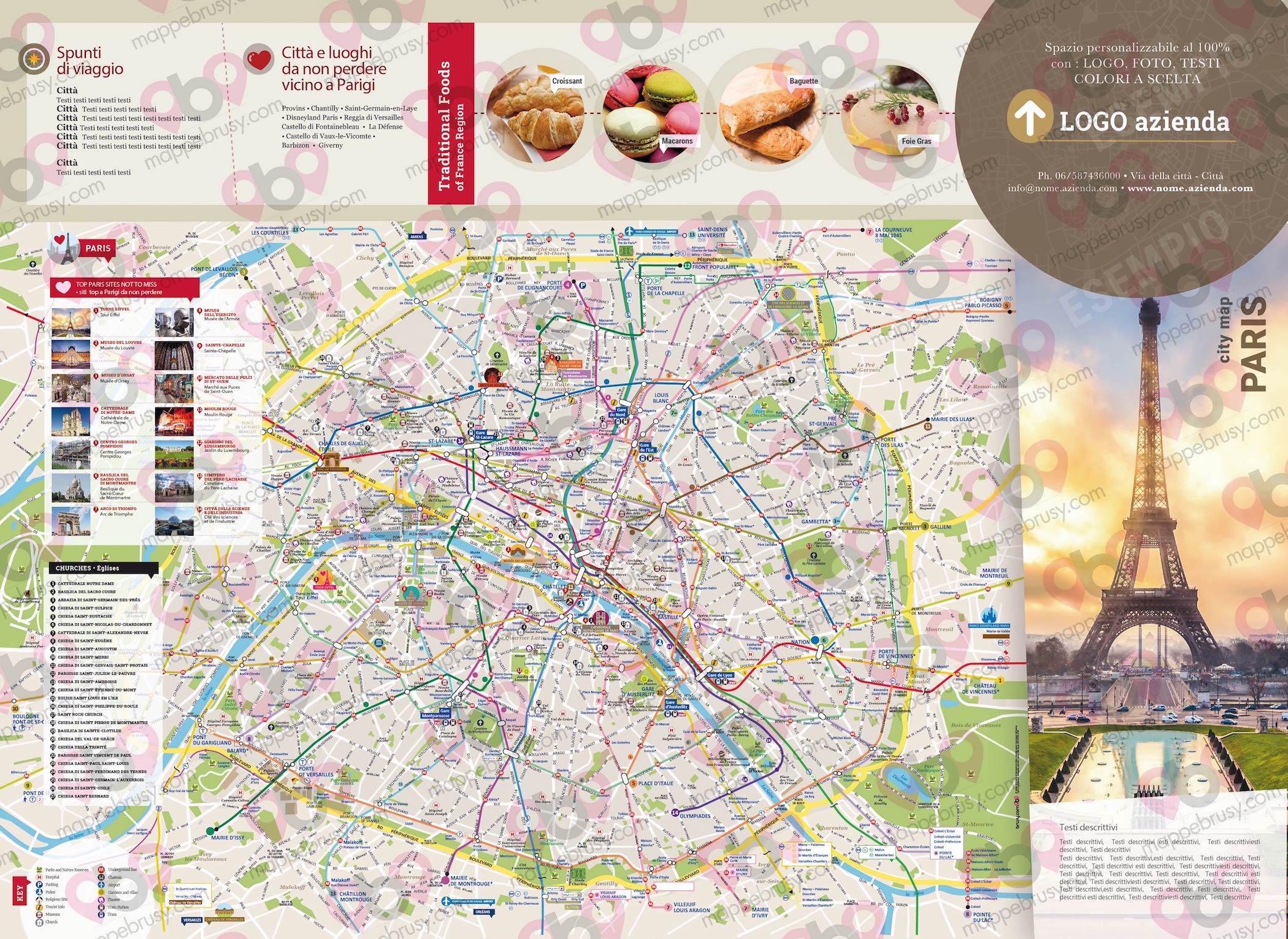 Cartina Geografica Di Parigi.Parigi Mappe Brusy