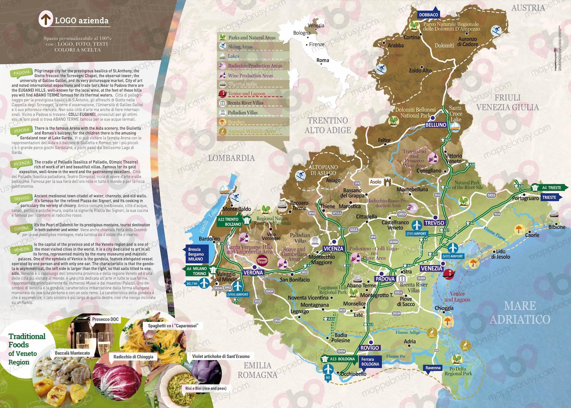 Veneto Regione Cartina.Veneto Regione Mappe Brusy