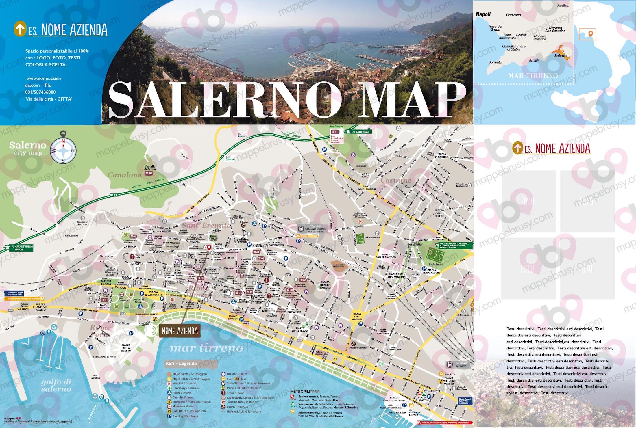 Cartina Italia Salerno.Salerno Mappe Brusy
