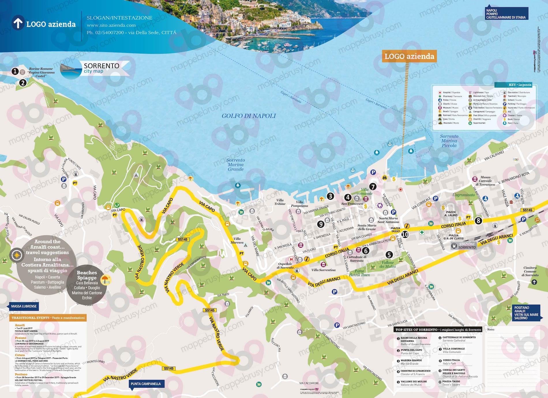 Cartina Italia Javascript.Sorrento Na Mappe Brusy